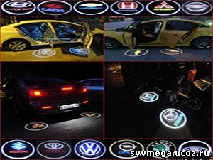 установка проекции логотипа марки автомобиля в бутово